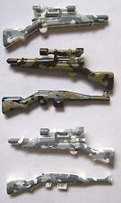 Custom WWII CAMO WEAPONS 5 pcs for Lego Minifigures -Gewehr 43 & Springfield