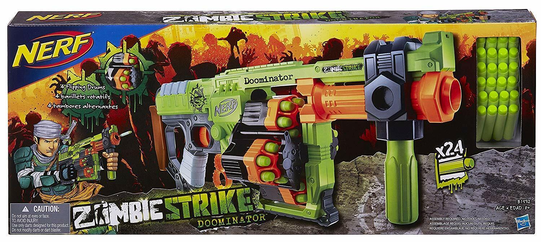 Nerf Zombie Strike Doominator Blaster Pistola Arma de juguete