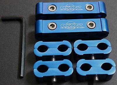 6PC SPARK PLUG WIRE BILLET SEPARATOR ENGINE BLUE HONDA CIVIC EG EK EX DX EF CRX