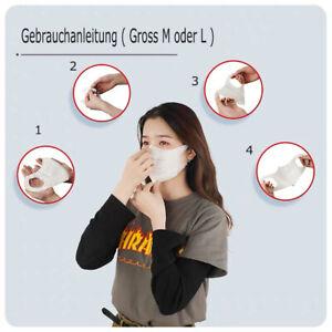10 Stück 3D FFP2 KN95 Atem Schutzmaske Mundschutz Feinstaubmaske Mundschutz