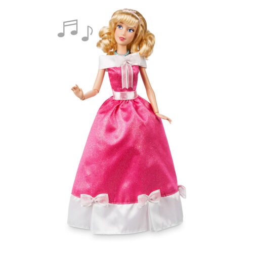 Disney Authentic Cinderella in Pink Dress Princess Singing Toy Doll Figure 11 H
