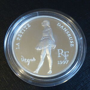 France-10-francs-1997-Degas-Little-Dancer-PROOF-silver-90-22-2-g