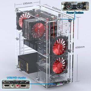 Details About Acrylic Atx Standard Computer Pc Case Part Kit Upgraded Diy Personalized 2019