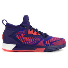 Adidas Men's D Lillard 2.0 Boost Primeknit Purp/Red Basketball Shoes Q16510 NEW!