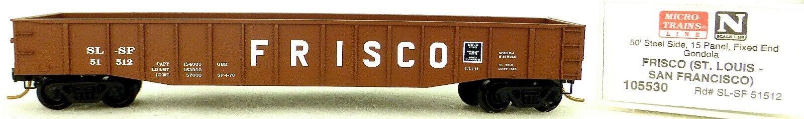 Micro Trains Line 105530 Frisco SL-SF 51512 50' Gondola low cov 1 160 OVP  F å