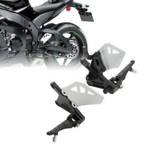 Set Rear Foot Pegs Footrest Brackets Rest For Motorcycle Kawasaki ZX10R ZX-10R