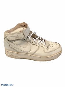 Nike Air Force 1 Mid 07 Size 6.5 Men 315123-111 Sneakers White Strap No Laces
