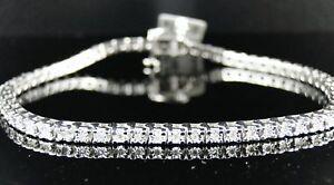 1 ROW DIAMOND WHITE GOLD FINISH TENNIS BRACELET 7 INCH