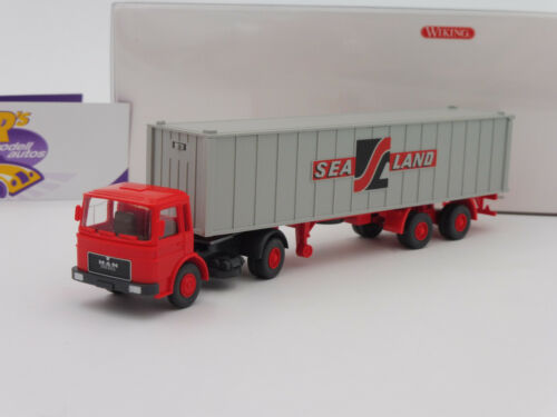 "Wiking 0523 04 MAN Containersattelzug in rot-grau /"" Sea Land /"" 1:87 NEUHEIT !!"