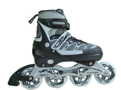 INLINER SKATER VERSTELLBAR GRÖSSE MODEL-Easy Liner Farbe schwarz grau