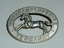 VINTAGE WW1, WW2 NORTHAMPTONSHIRE YEOMANRY MILITARY CAP BADGE!