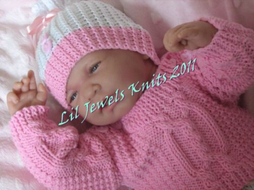 Honeydropdesigns Triple Trouble PAPER KNITTING PATTERN  Baby//Reborn 3 Sizes