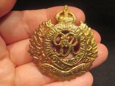 Royal Canadian Engineers WWII Military Cap Badge with lug repair