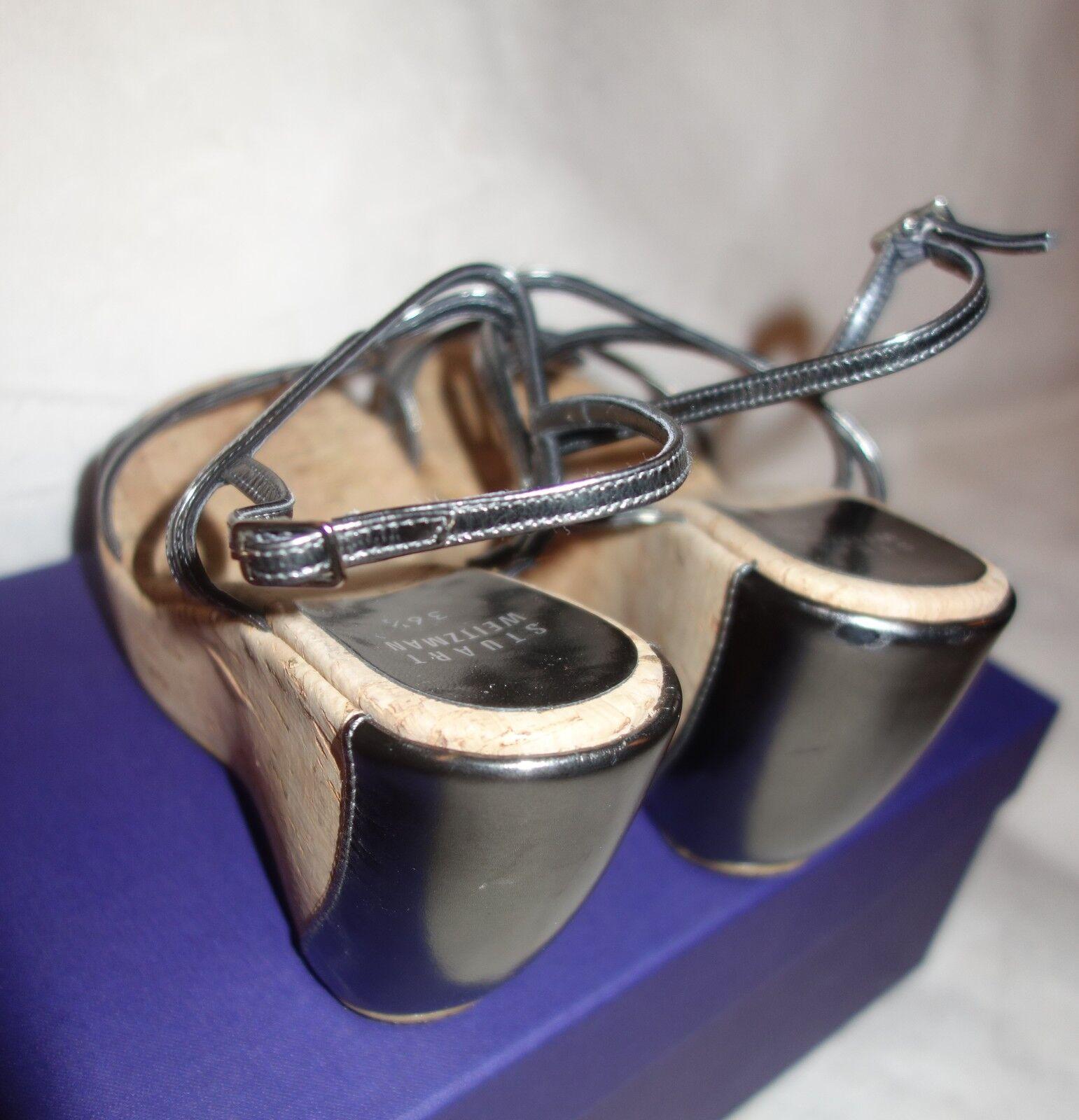 Stuart Weitzman Thrill Platforms Wedges Open Toe Sandales Schuhes sz sz Schuhes 36.5 US SZ 6 831edc