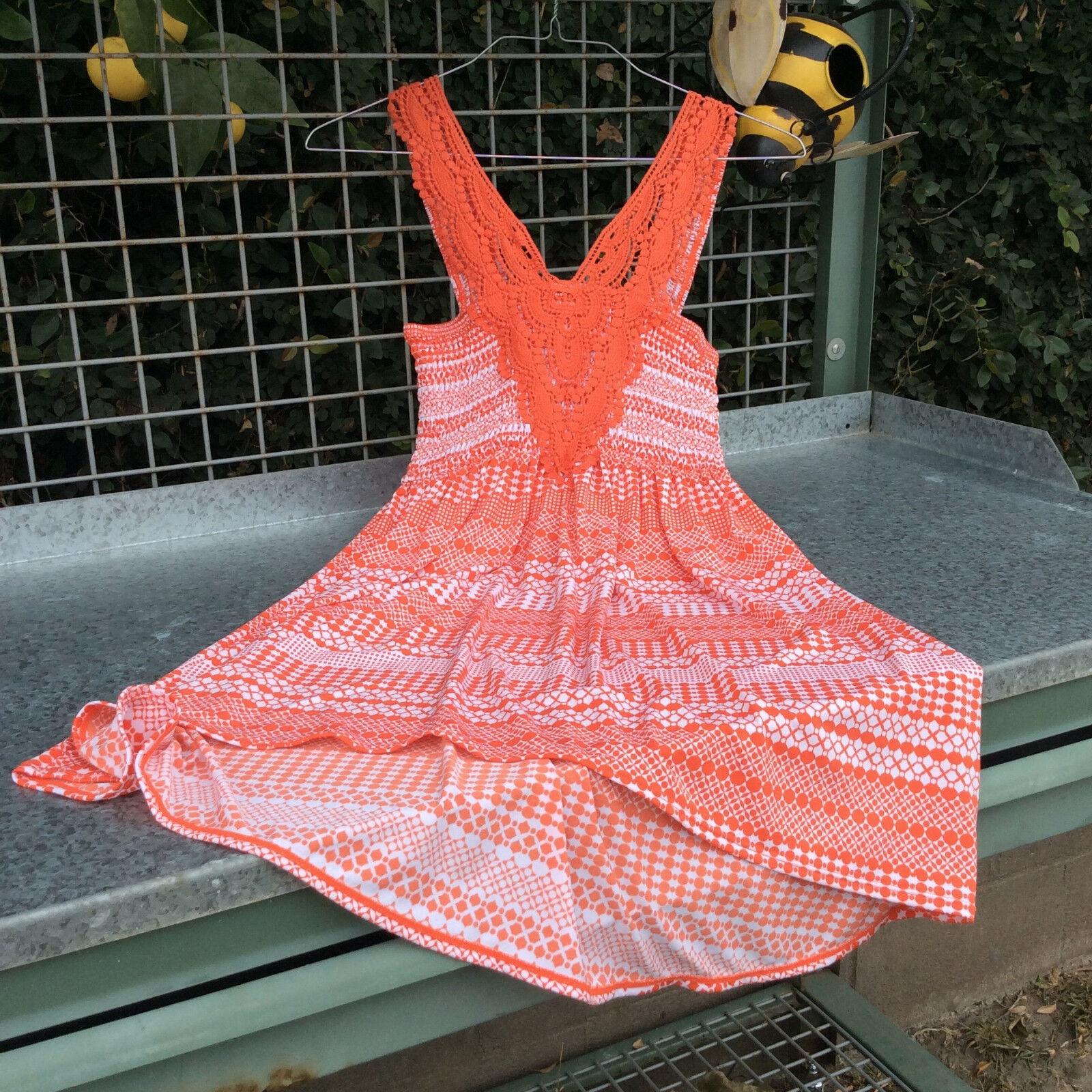 Theory Arena Orange Dress Größe Large