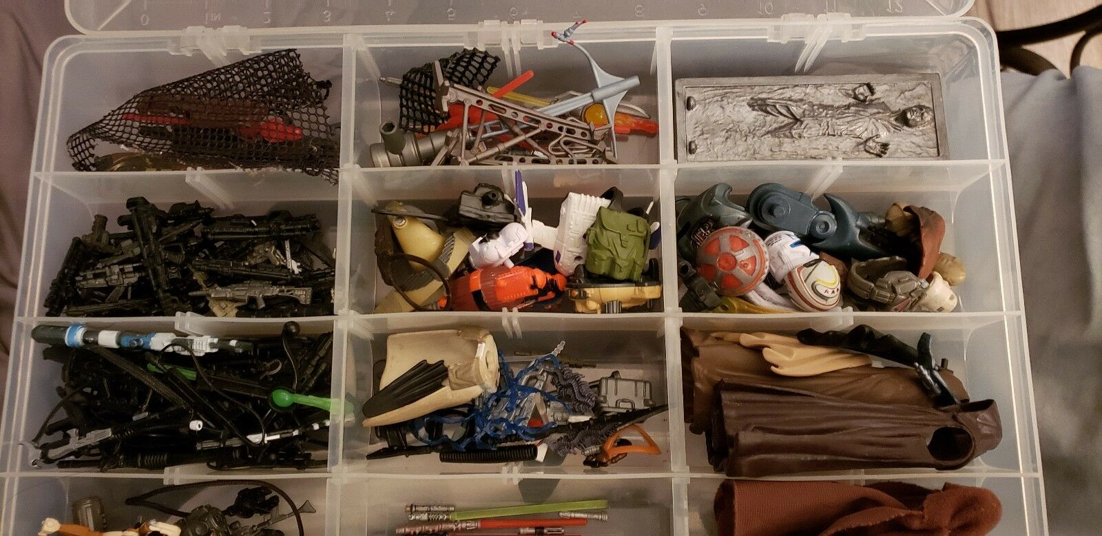 STAR WARS HUGE LOT OF WEAPONS & ACCESSORIES FOR MODERN FIGURES 200+