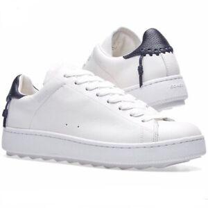 COACH C101 Low Top Sneaker White Blue
