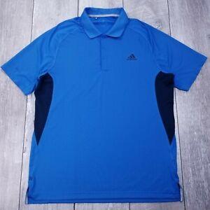 Adidas-Climacool-Ultimate-365-Golf-Polo-Shirt-Mens-Large-Blue-Short-Sleeve-P128