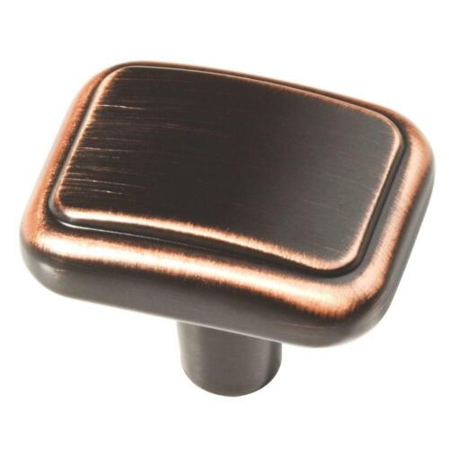 50 lot new Liberty Kirkwood rectangle cabinet knob bronze with copper highlights