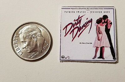 "Dollhouse Miniature Record Album 1/"" 1//12 scale Barbie  Dirty Dancing Musical"