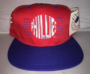 efdbaf38b Details about Vtg Philadelphia Phillies Snapback hat cap 90s Nwt MLB Annco  deadstock baseball