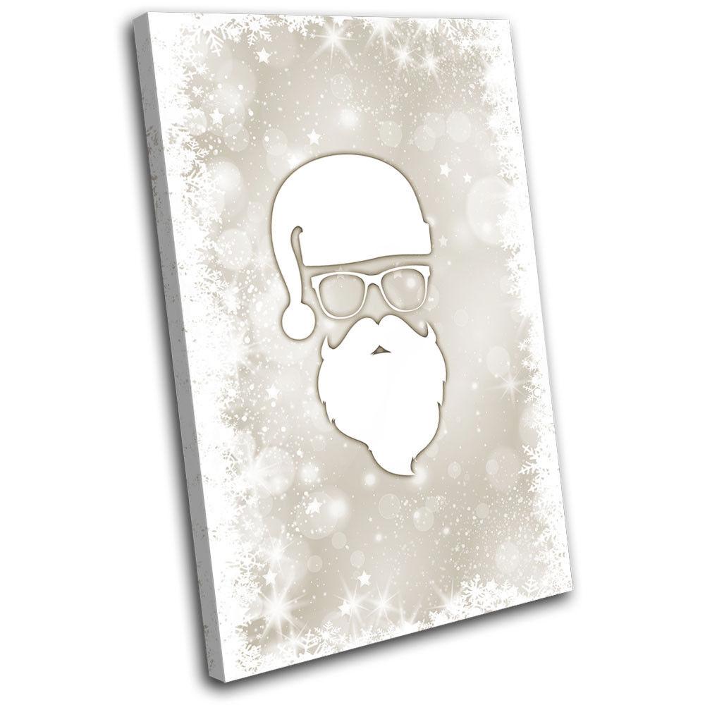 Christmas Decoration Wall Canvas ART Print XMAS Picture Gift Bokeh 10 Cream Chri