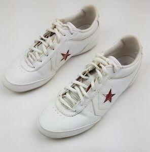 abajo Islas del pacifico espiritual  CONVERSE One Star White Leather Sneaker Red Star XO US Men's 6 Women's 8 |  eBay
