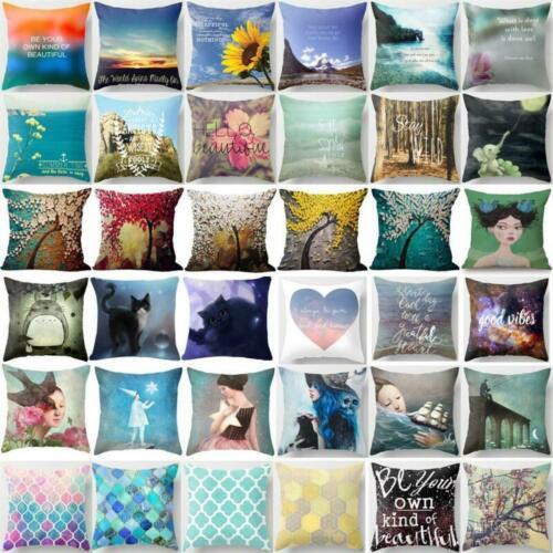 Cotton Linen Square Pillow Cases Throw Pillow Home Decor Sofa Car Cushion Cover