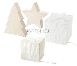 New Ikea Strala Christmas Table Lamp Shade Rice Paper With Led Bulb Ebay