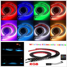 4pcs Car Underbody RGB 8 Colors LED Strips Music Control System Neon Light Kit