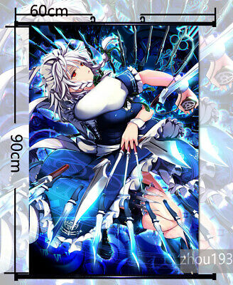 Touhou project Izayoi Sakuya Anime HD Print Poster Scroll Home Decor Cosplay