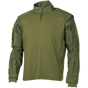 MFH-US-Camiseta-Tactical-Hombres-Combate-Caza-Militares-UBACS-Airsoft-OD-Verde