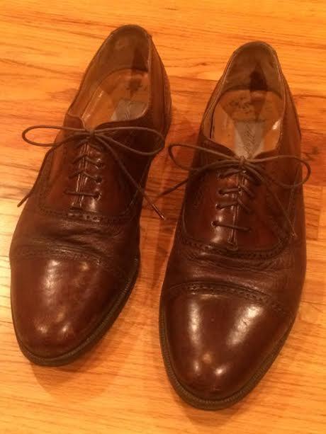 Mezlan Men's 10.5 Brown Dress shoes Cap Toe Oxford Florence