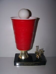 ECONOMY BEER PONG TROPHY AWARD BEERPONG FREE ENGRAVING