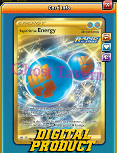 Rapid Strike Energy SR 182/163 Secret Rare BST Pokemon TCG Online PTCGO(InGame)