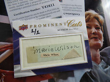 d1972 Marie Wilson 1/1 auto UPPER DECK PROMINENT CUTS signed PSA/DNA AUTOGRAPH