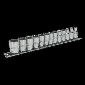 AK2691 Sealey Socket Set 13pc 1/4Sq Drive 6pt WallDrive® - Metric