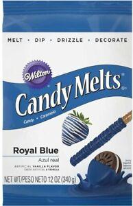 Wilton ROYAL BLUE Candy Melts For Cake Pops Decoration 12oz (Pack of 2)