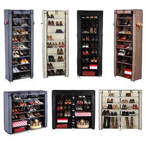 Wunderbar Das Bild Wird Geladen 7 10 Schicht Schuhschrank Schuhablage Schuhregal  Schuhstaender Stoff