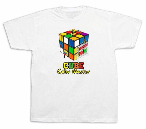 Mens Tee shirts T-shirt print Rubik Cube Master Game Classic Cube Master