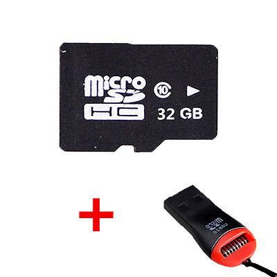 Tarjeta De Memoria MicroSD 32GB Clase 10 Micro SD Movil Con Lector De Tarjetas