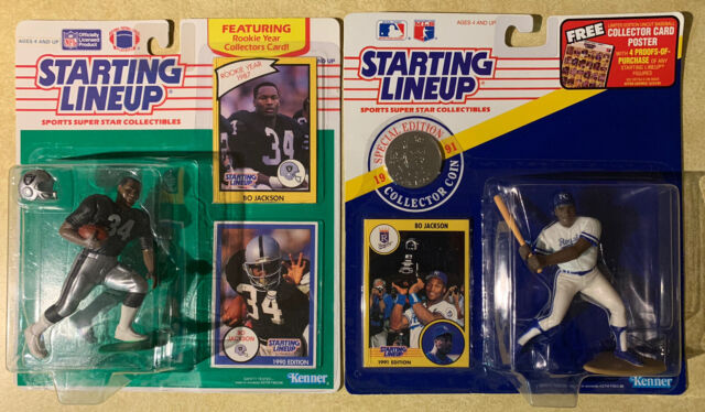 Bo Jackson Starting Lineup Figures 1990&1991 Sealed Raiders Royals