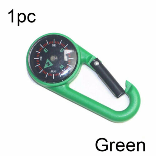 Portable Compass Keychain Multifunctional Hiking Carabiner Mini Compass Outdoor