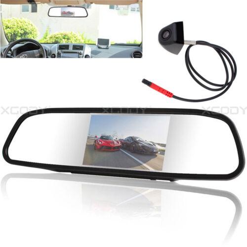 "4.3/"" TFT Mirror Monitor Car Rear View Backup Reverse System Cam Camera Kit New"