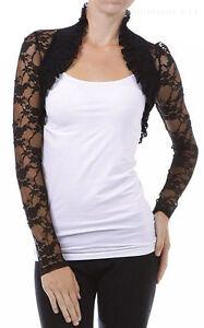 Women-s-Long-Sleeves-Lace-Bolero-Shrug-Cropped-Cardigan-Short-Jacket-Colors-Plus
