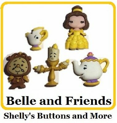 Jesse James Buttons Dress It Up - Disney- Beauty/Beast BELLE AND FRIENDS~ Crafts