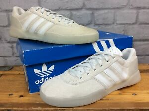 ADIDAS-MENS-UK-8-EU-42-CITY-CUP-NATURAL-GREY-WHITE-SUEDE-TRAINERS-LD