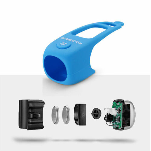 ROCKBROS Cycling MTB Bicycle Electric Horn Rainproof Handlebar Bell Blue