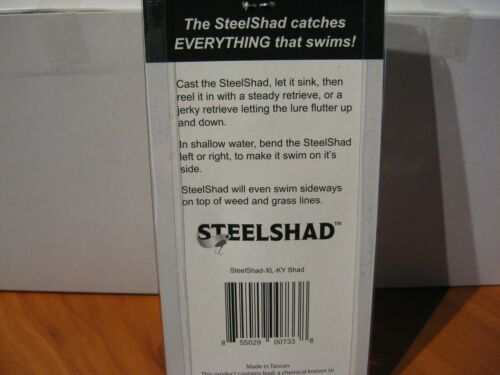 "Steel Shad XL Series 3 3//4/"" Blade Bait 3//4 Oz Fishing Lure KY Shad Steelshad"