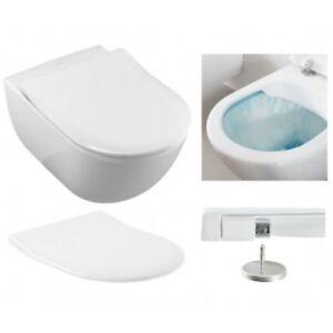 Toilet Villeroy En Boch.Villeroy Boch Subway 2 0 Rimless Wc Wall Hung Toilet Pan Slim Seat